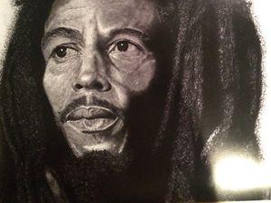 Bob Marley pencil drawing prints