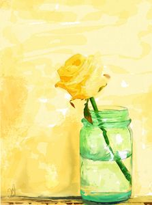 yellow rose - Jovan watercolors