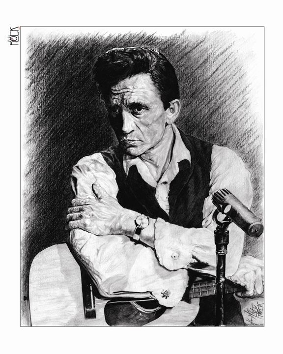 Johnny Cash Artwok - ROCKART