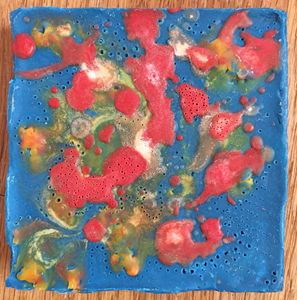 primary color encaustic