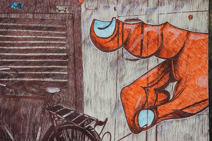 red hand - KARTIK JAIN ART