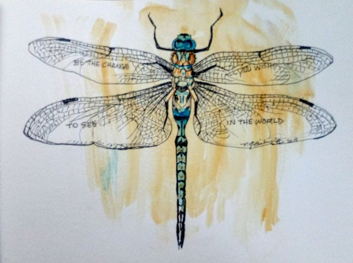 Dragonfly, Be the Change - NancyJBailey