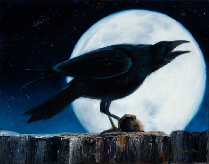 Moon Shadow Raven - Randy Robinson Art