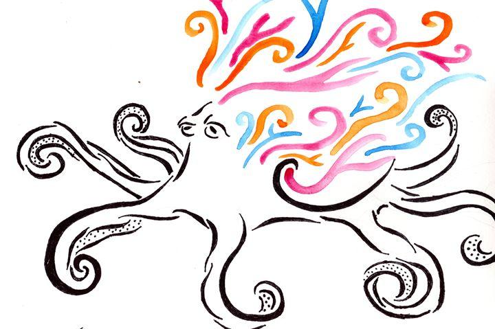 Tribal Octopus - Primal Creatures - Paintings & Prints