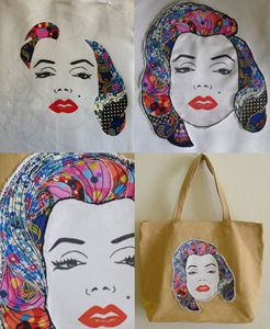 Iconic Pop Stars Art Quilt Tote