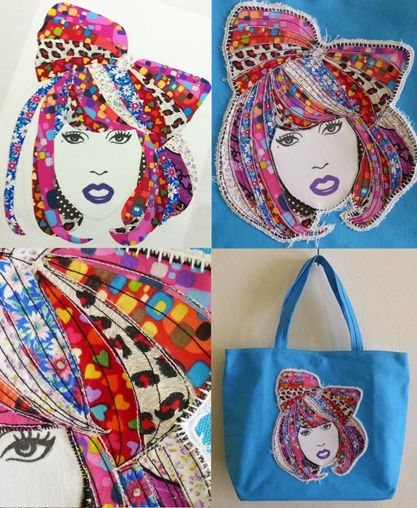 LADY GAGA Art Quilt Canvas Tote - Bagholic