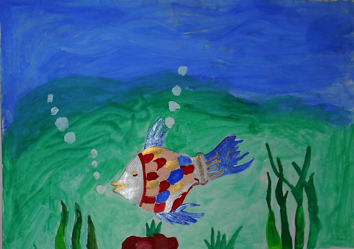 Water Fish Painting - Aar Vee Collection