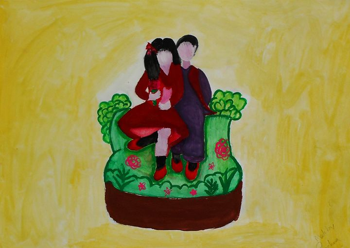 couple love painting - Aar Vee Collection