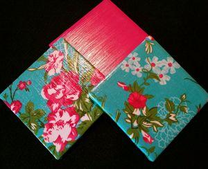 Decorative Tilet Coaster Set - Flora