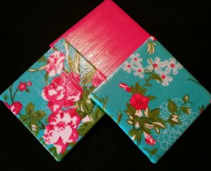 Decorative Tilet Coaster Set - Flora - Dye Decor & More