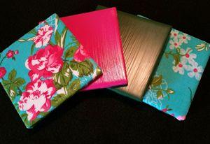 Floral Decorative Coaster Set