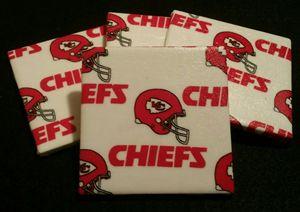 Kansas City Chiefs Tile Coaster Sets