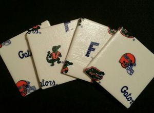 Florida Gator Coaster Set