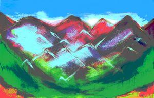 Abstract Mountain Print