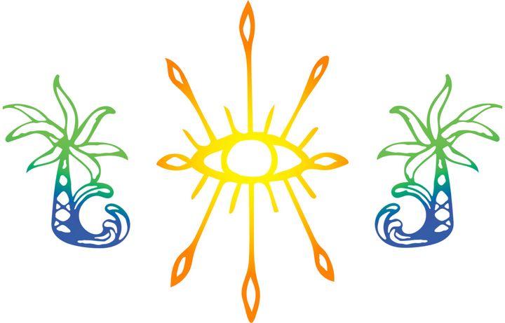 Eye see palm trees - SA Sarah Ann