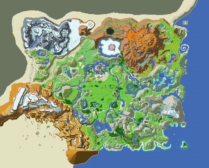 Legend of Zelda: BOTW Retro Map - Soul of the Earth Art and Design
