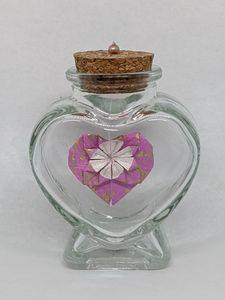 Pink Heart in a Bottle - Heart