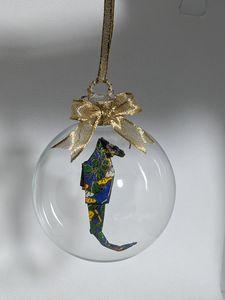 Blue Seahorse Ornament