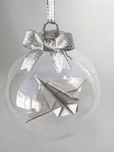 Origami Jet Ornament - Starfruit Sky