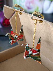 Flapping Crane Earrings