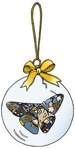 Butterfly Ornament Sticker