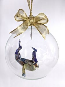 Blue & Tan Dragon Ornament