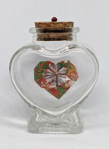 Red Heart in a Bottle - Heart