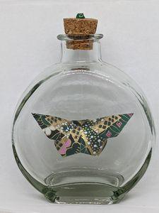 Jade & Gold Butterfly in a Bottle