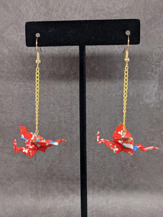Red Floral Dragons - Starfruit Sky