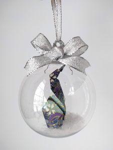 Blue & Purple Penguin Ornament