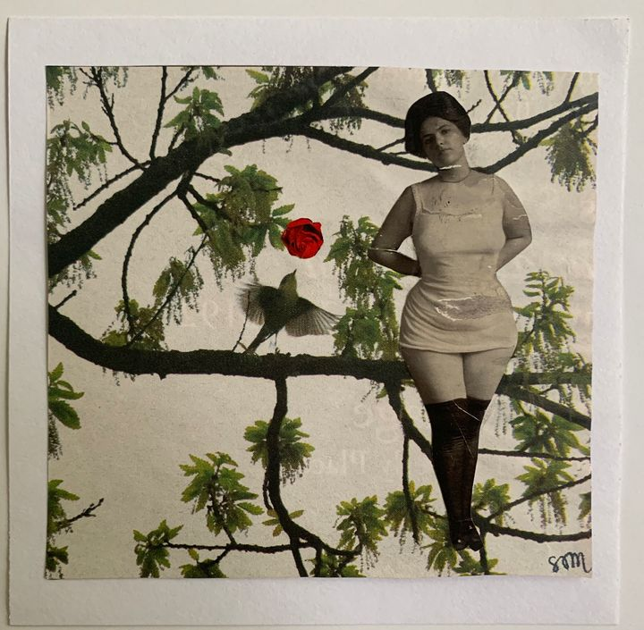 Storyville Girl in Tree with Bird - Susan Minot