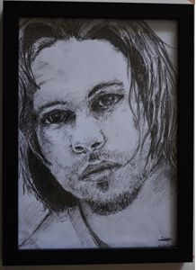 Brad Pitt drawing