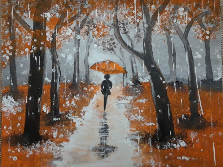 Dancer under rain - Art by Jancel
