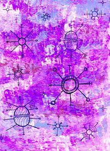 Bright Purple Orbit