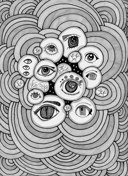 Hypno-Gaze in Grey - Doodles