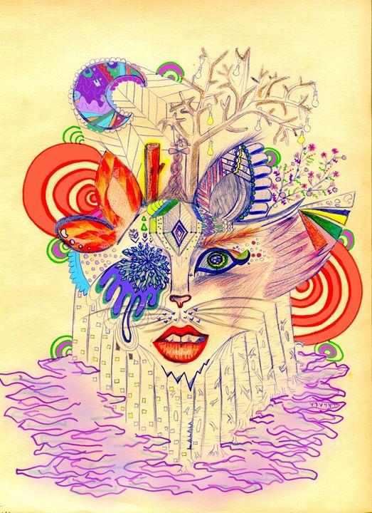 Lala Cat - Doodles
