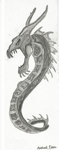 charcoal snake dragon