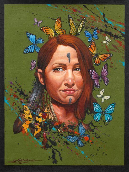 Indian bride with butterflies - FreshArt