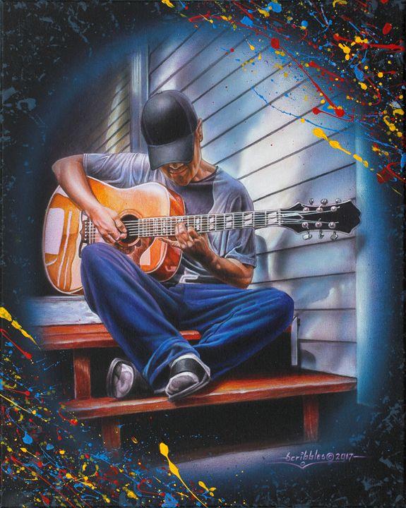 Music Lover - FreshArt - Paintings & Prints, Entertainment