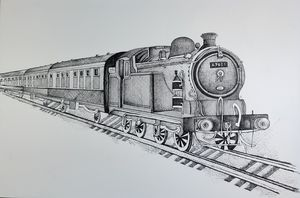 VINTAGE TRAIN 2021 - syed akheel art