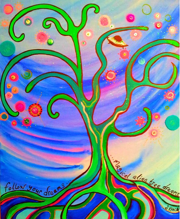 Magical Alien Tree - Jon Kania Art & Design