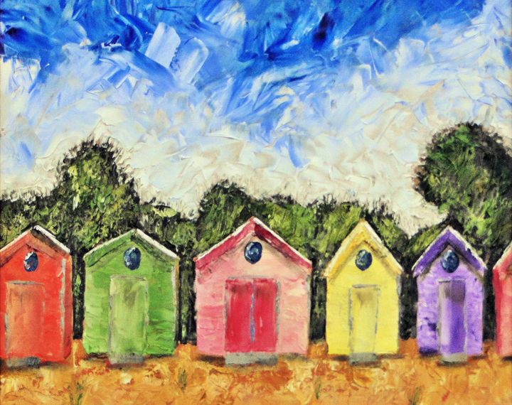 Beach Huts - Brian Aldridge
