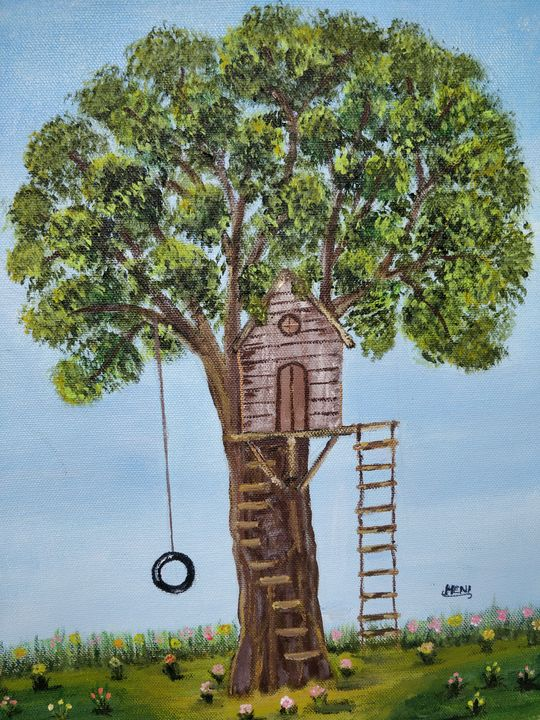 Tree house in Elysium - elizabeth samuel