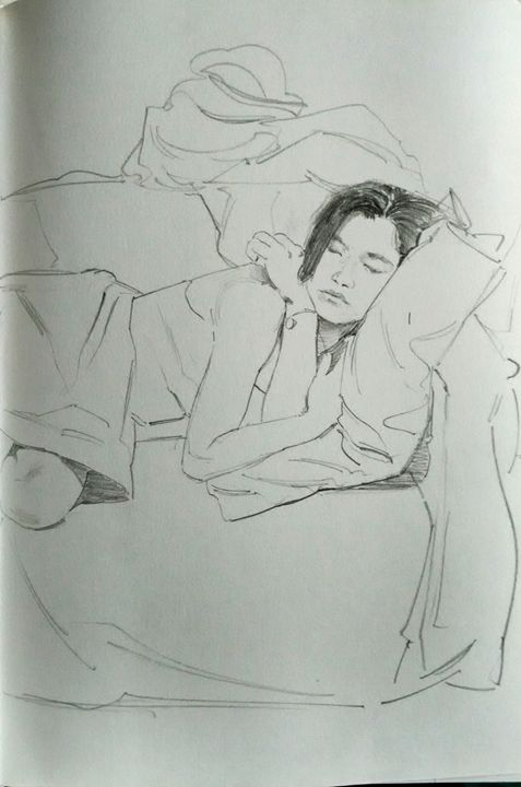 Sleeping Woman - Thomas' Drawingz