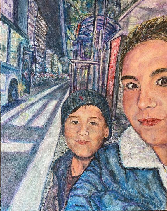 Selfie Waiting For the Bus - Mark Brazney