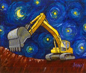 Quarry Night - Rich Janney Artwork