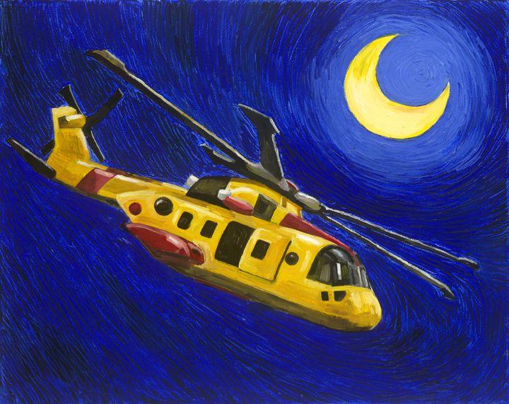 Starry Night Way Over The Rhone - Rich Janney Artwork