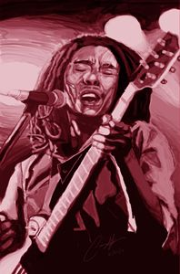 bob marley digital painting
