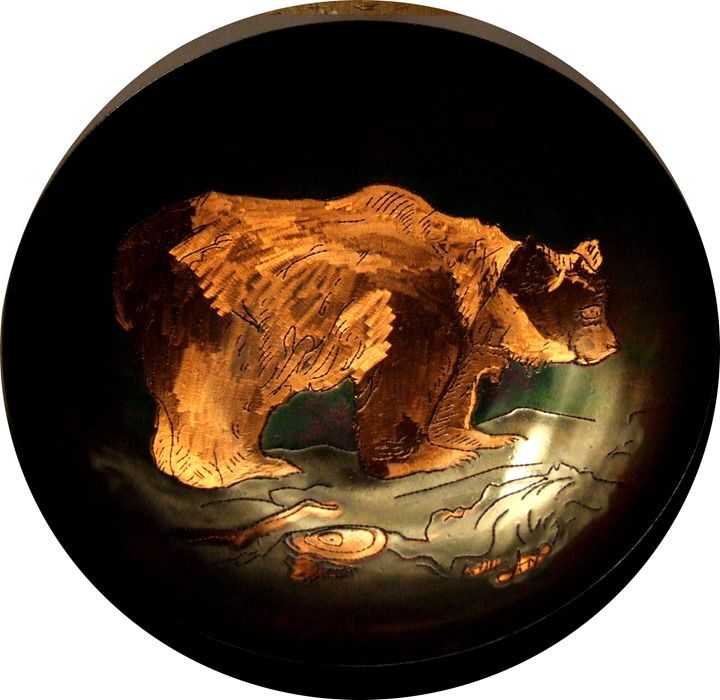 Copper Plate - Bear - Lenn-Art