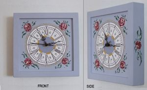 Wall clock - violet colour
